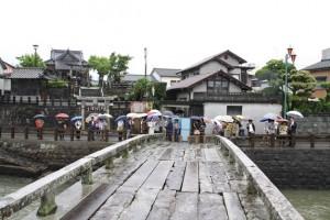 天草・祇園橋にて